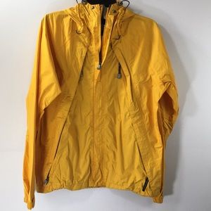 The North face yellow Zipper Belco Strap Rain Coat